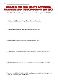 Civil Rights Movement Primary Source Analysis