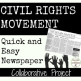 Civil Rights Movement Collaborative Newspaper Activity or