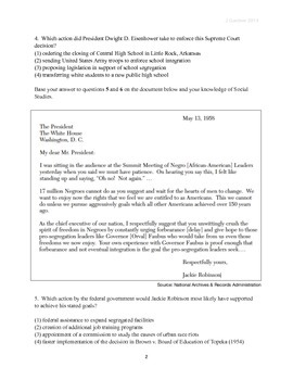 Civil Rights Movement Quiz and Written Response