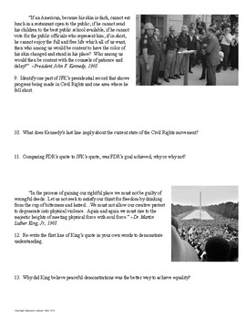 Civil Rights Movement Quote and Image Analysis