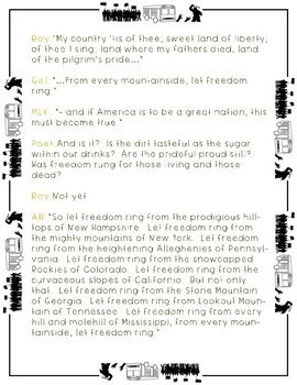 """Civil Rights Movement Reader's Theater (""""I Have a Dream..."""" Speech)"""