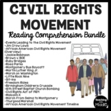 Civil Rights Movement Reading Comprehension Bundle