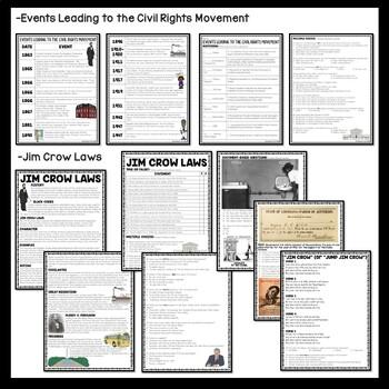 Civil Rights Movement Reading Comprehension Bundle
