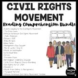 Civil Rights Movement Worksheet Reading Comprehension Bundle