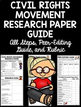 Civil Rights Movement Research Paper, includes all steps o
