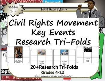 Civil Rights Movement Research Tri-Folds