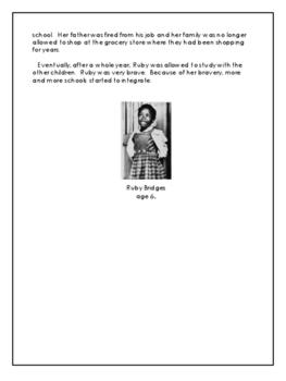 Civil Rights Movement - Ruby Bridges - Grade 7 to 9