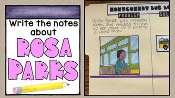 Civil Rights Movement Scrapbook SS5H6 Interactive Notebook