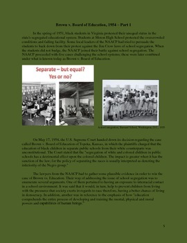 CIVIL RIGHTS: Short Passages - Reading Comprehension and Assessment