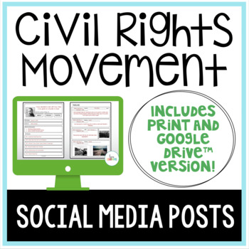 Civil Rights Movement Social Media Posts: 20 Leaders and Heroes