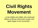 Civil Rights Movement Social Studies Powerpoint