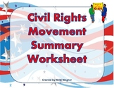 Civil Rights Movement Summary Graphic Organizer