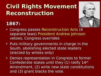 Civil Rights Movement Summary Powerpoint U.S. History