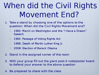 Civil Rights Movement - Take a Stand