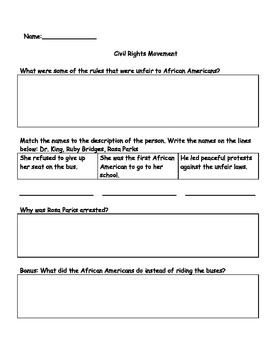 Civil Rights Movement Test