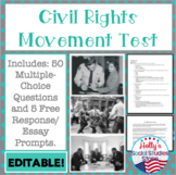 Civil Rights Movement Test- EDITABLE