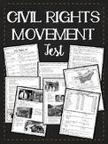Civil Rights Movement Test- Key Events, Figures, 40 questions + DBQ, Essay