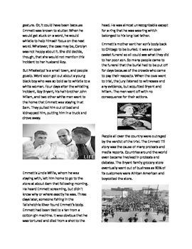 Civil Rights Movement: The Lynching of Emmett Till