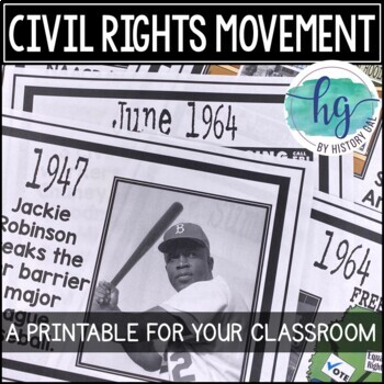 Civil Rights Movement Timeline {A Printable for Your Classroom}