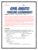 Civil Rights Movement - Timeline Assignment with Key and Rubric