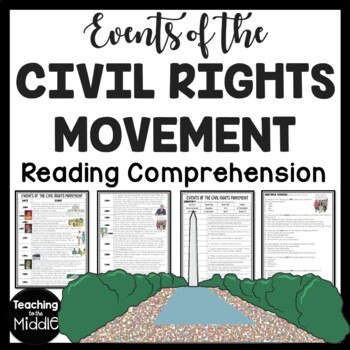 Civil Rights Movement Timeline, questions, Black History M