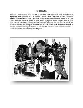 Civil Rights Movement Unit Packet