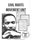 Civil Rights Movement Unit-Vocabulary, Ruby Bridges, Research Project on Events