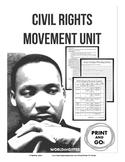 Civil Rights Movement Unit-Vocabulary, Ruby Bridges, Resea