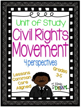Civil Rights Movement Unit of Study {Lesson Plans, Assessments, Student Journal}