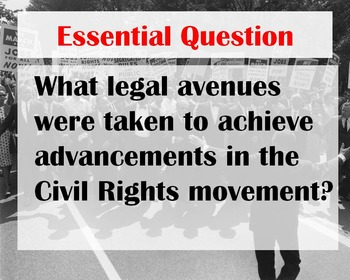 Civil Rights Movement Vocabulary WORD WALL Posters (U.S.History)
