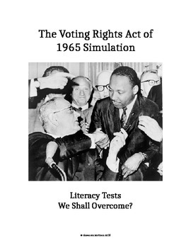Civil Rights Movement - Voting Rights Act of 1965 Literacy Test Simulation