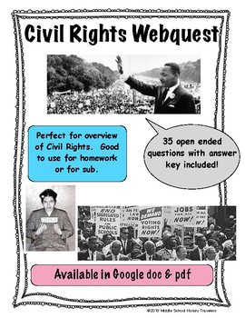 Civil Rights Movement Webquest