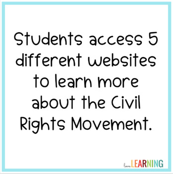 Distance Learning: Civil Rights Movement Webquest