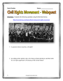 Civil Rights Movement - Webquest with Teachers Key (American History)