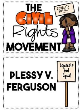 Civil Rights Movement Word Wall- FREEBIE!