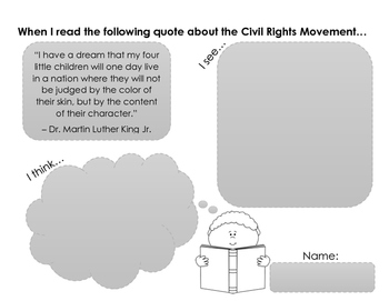 Civil Rights Movement Writing Activities