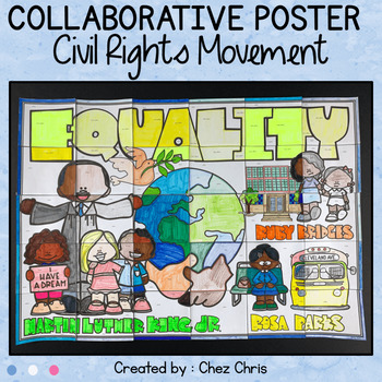 Black History Month - Civil Rights Movement a Collaborative Poster