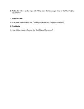 Civil Rights Movement introduction webquest