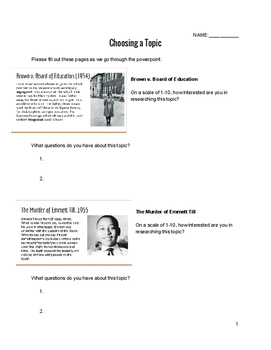 Civil Rights Movement notes