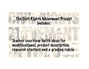 Civil Rights Movement project
