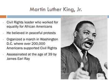 Civil Rights Movement through Present Day Powerpoint