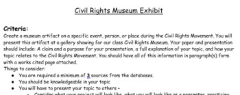 Civil rights research paper