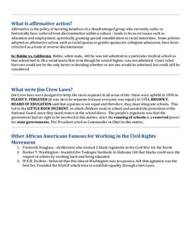 Civil Rights Outline
