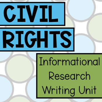 Civil Rights PBL Unit Bundle
