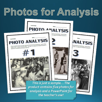 Civil Rights - Photo Analysis Centers Activity (Teachers Guide and Key)