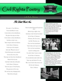 Civil Rights Poetry Literature Activities