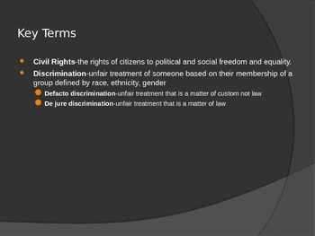 Civil Rights Power Point