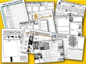 Civil Rights PowerPoint & Activity Bundle