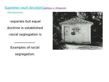 Civil Rights PowerPoint - Plessy and Brown Court Cases