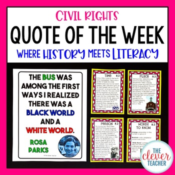 Civil Rights - Task Cards & Literacy Strategies